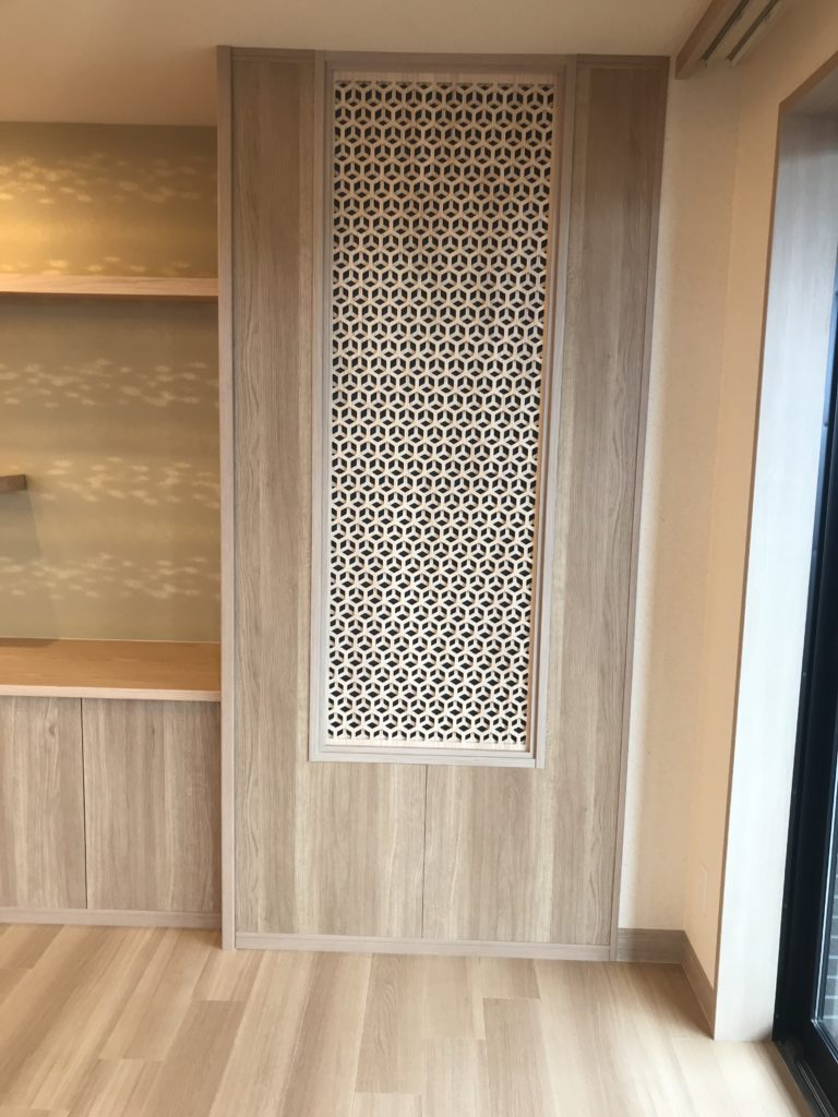 じゅじゅ松ヶ丘公園の食堂の壁