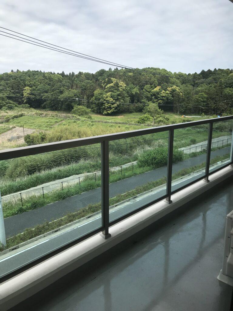 イリーゼ四街道居室窓からの眺め北向き