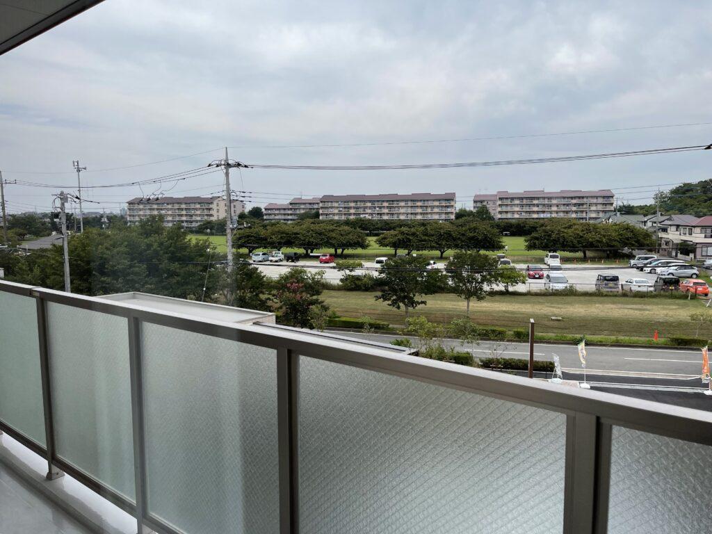 イリーゼ西志津北向きの居室窓からの眺め
